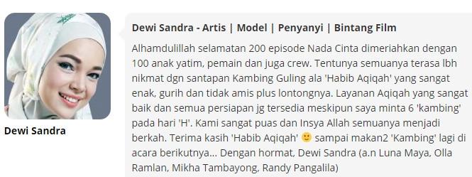Testimony Dewi Sandra
